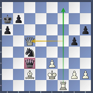Aronian-Adams, after 41.Qxc5!
