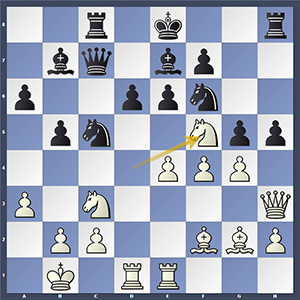 Round 7, Nakamura-Vachier-Lagrave, after 18.Nf5!