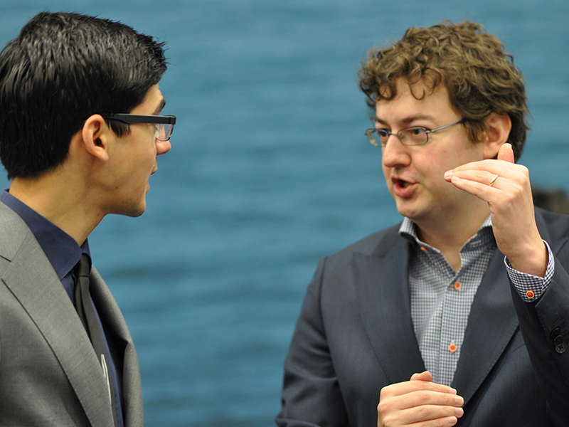 Photo of Anish Giri and Erwin l'Ami