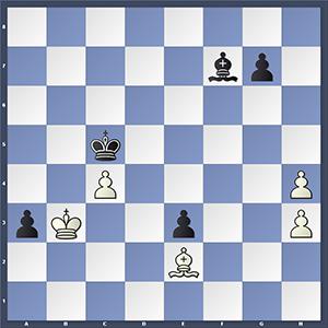 Adhiban vs Eljanov, after 55.Kb3