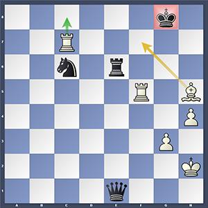 Carlsen vs Giri, after 55...Kg8.