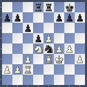 Carlsen vs Wei, after 28...Ne4?