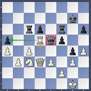 Eljanov-Rapport, after 41.Rd5.