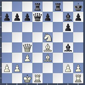 Karjakin-Van Wely, after 17.Nxe5