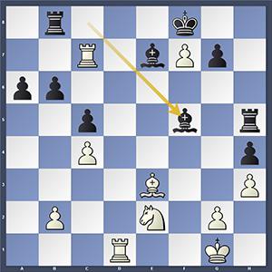 Vachier-Lagrave vs Adams, after 33...Bxf5?