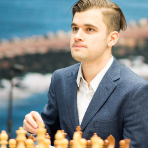 Maxim Matlakov at the 2018 Tata Steel Chess Tournament © | Hot Off The Chess, http://www.hotoffthechess.com