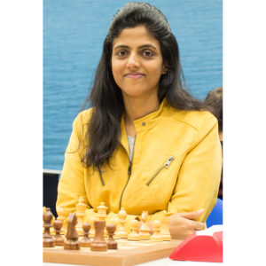 One of the most pleasant players present, Harika Dronavalli of India. Photograph by John Lee Shaw © www.hotoffthechess.com